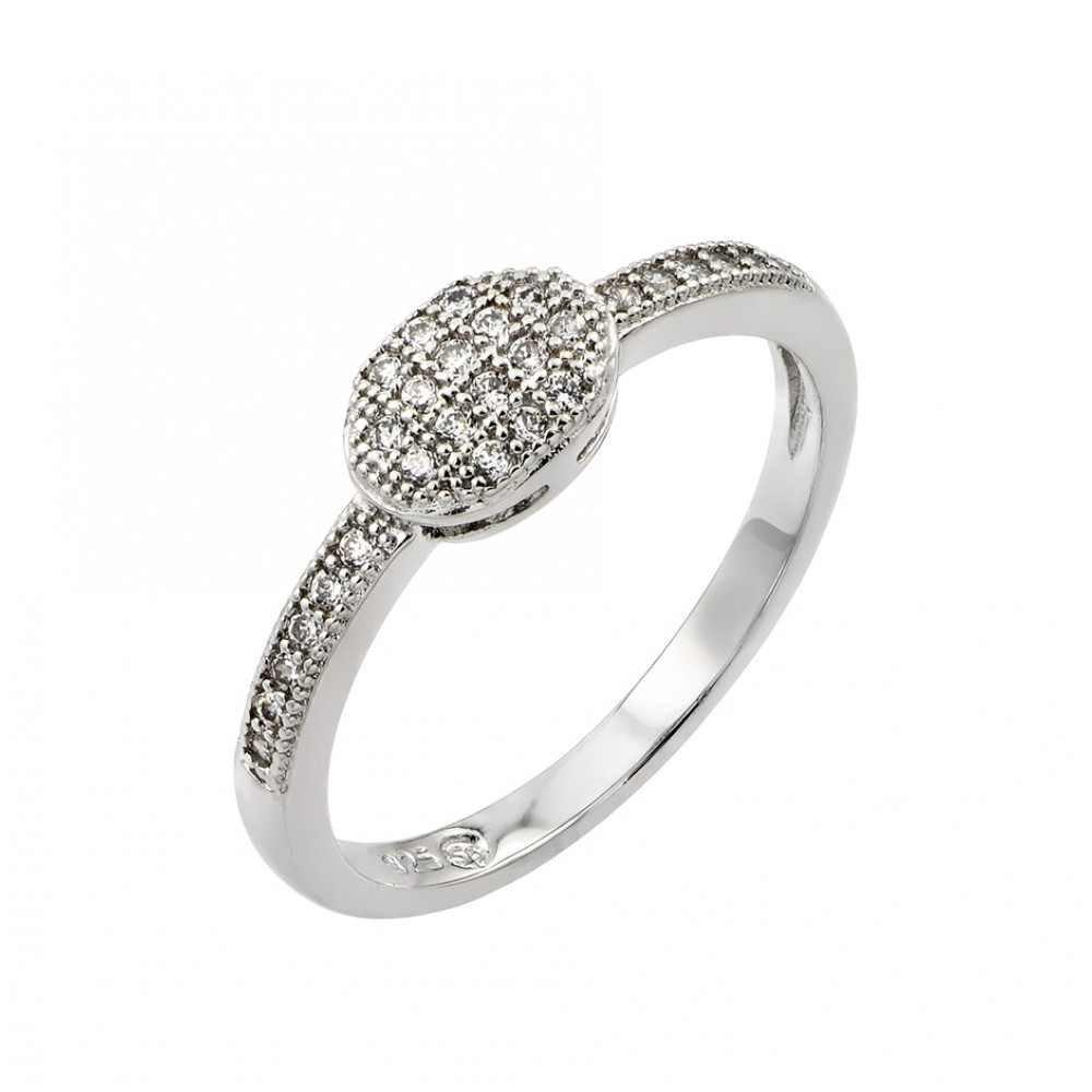 Silver Rings CZ .925 Ladies Sterling Jewelry bgr00786