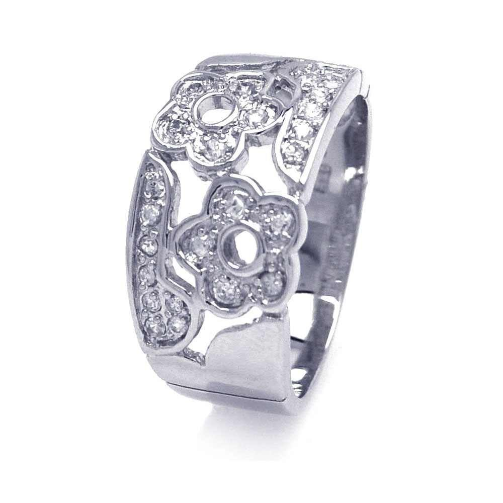 Silver Rings CZ .925 Ladies Sterling Jewelry aar0027