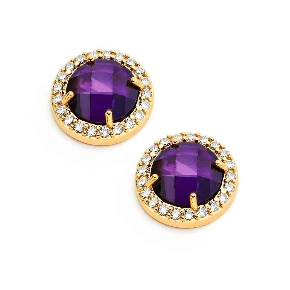 Silver CZ Stud Earrings .925 Sterling Jewelry bge00360p