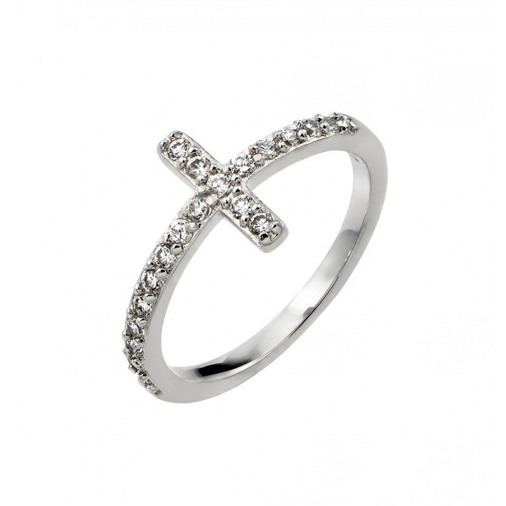 Silver Rings CZ .925 Ladies Sterling Jewelry