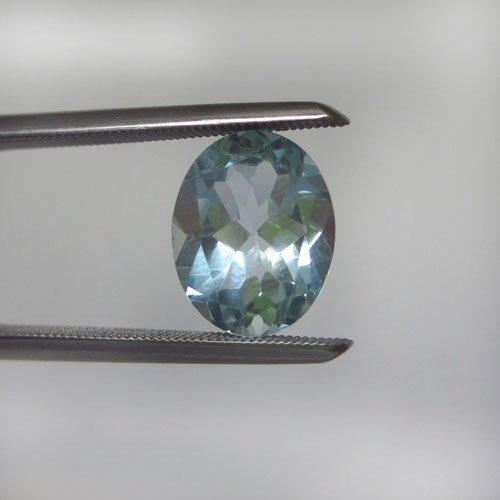 Loose Natural Sky Blue Oval Topaz 9mm x 7mm