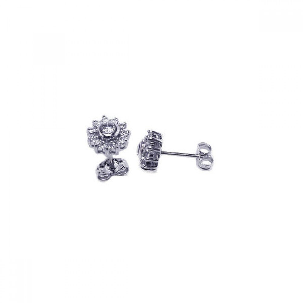 Silver CZ Stud Earrings .925 Sterling Jewelry ace00023