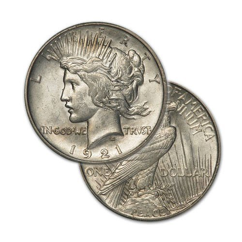 Peace Silver Dollar Coin - Random date - Average