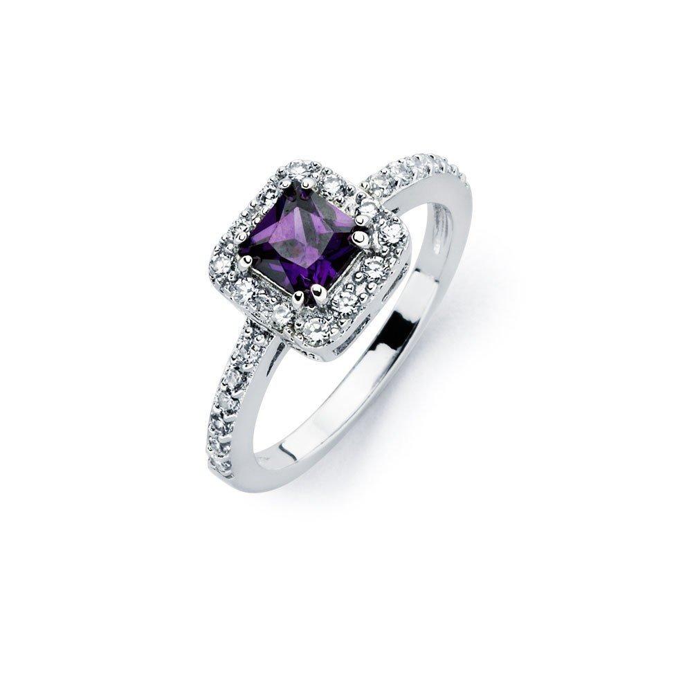 Silver Rings CZ .925 Ladies Sterling Jewelry bgr00734