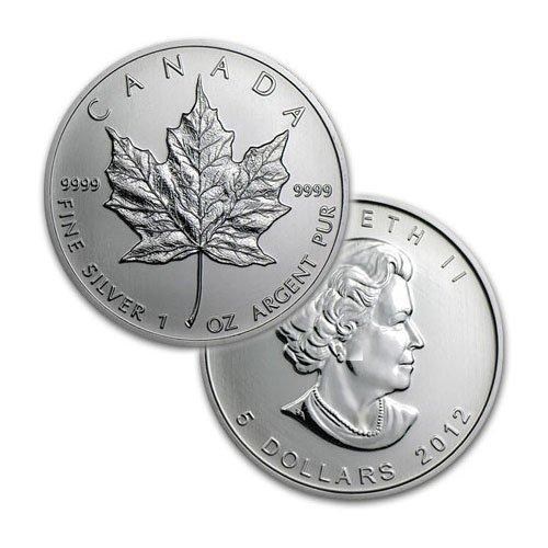 BRILLIANT UNCIRCULATED 1oz Sillver Canadian Maple Leaf