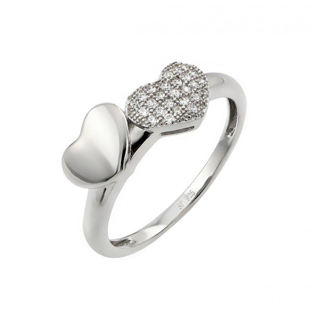 Silver Rings CZ .925 Ladies Sterling Jewelry str00953