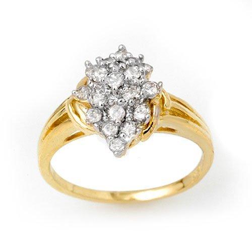 Natural 0.25 ctw Diamond Ring 10K Yellow Gold
