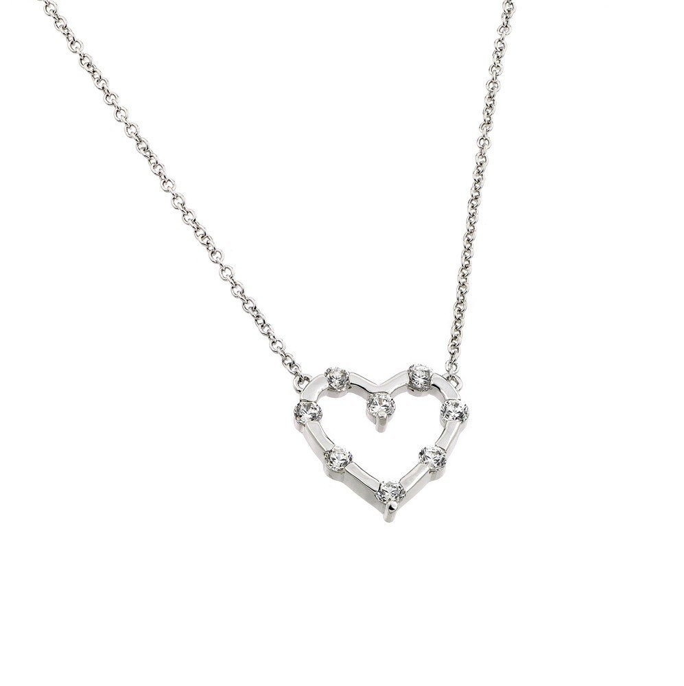 Silver Necklace .925 Ladies Sterling Jewelry bgp00866