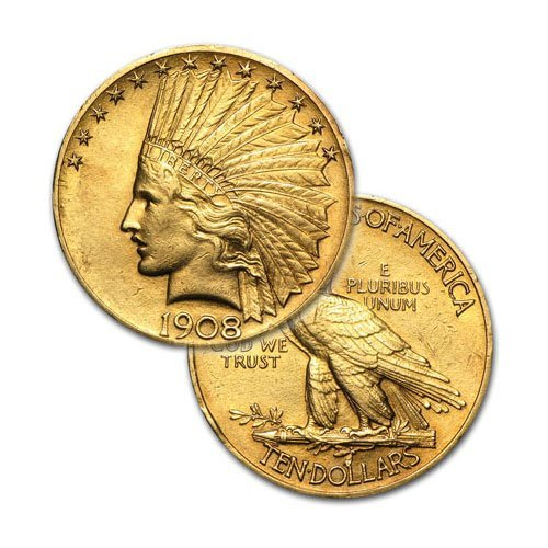 $10 Indian Gold - Eagle - 1907 to 1933 - Random date