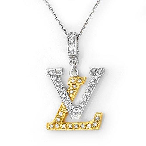 Natural 0.33 ctw Diamond Necklace 14K Multi tone Gold