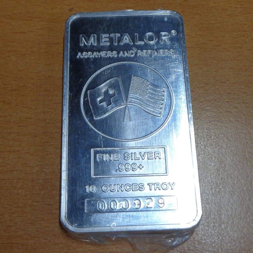 10oz Silver bar - .999 Fine Silver in Original Mint