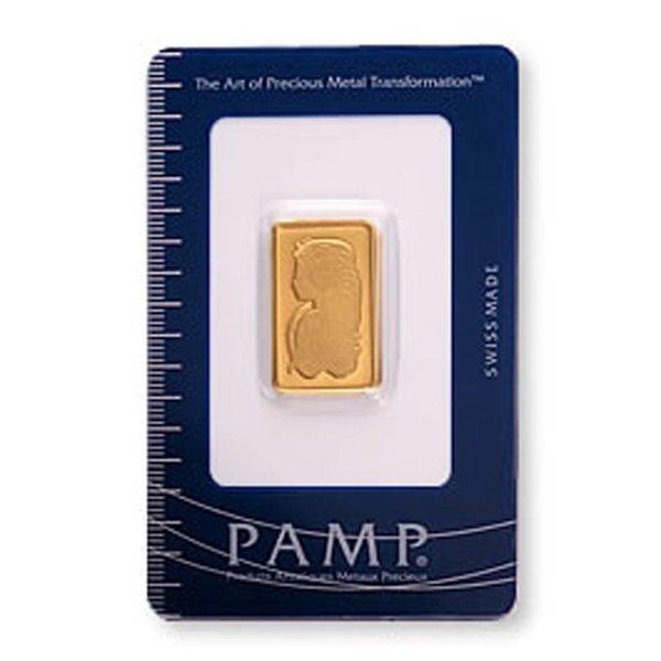 Pamp Suisse Gold Bar 10 grams - .9999 Fine Gold