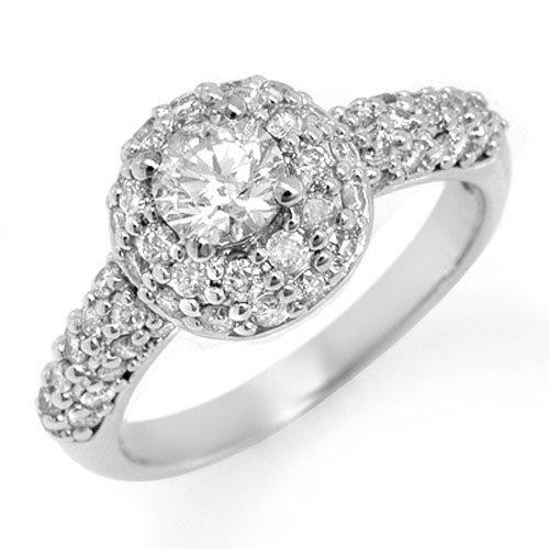 Natural 1.35ctw Diamond Anniversary Ring 14K White Gold