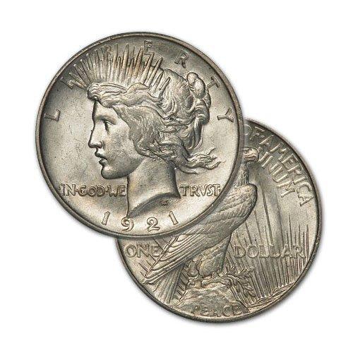 Peace Silver Dollar Coin - Random date - Average