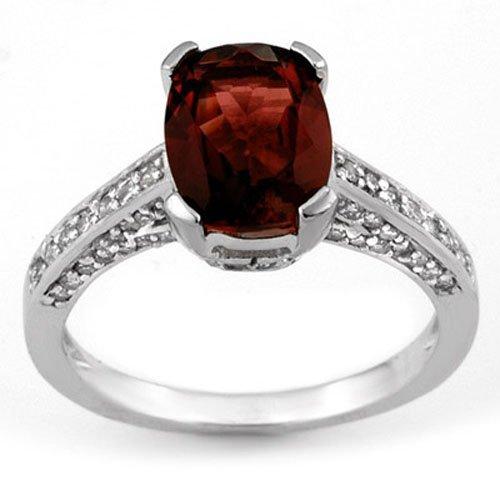 Genuine 5.5ctw Pink Tourmaline & Diamond Ring 14K Gold