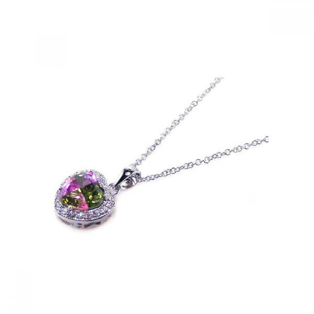 Silver Necklace .925 Ladies Sterling Jewelry bgp00053