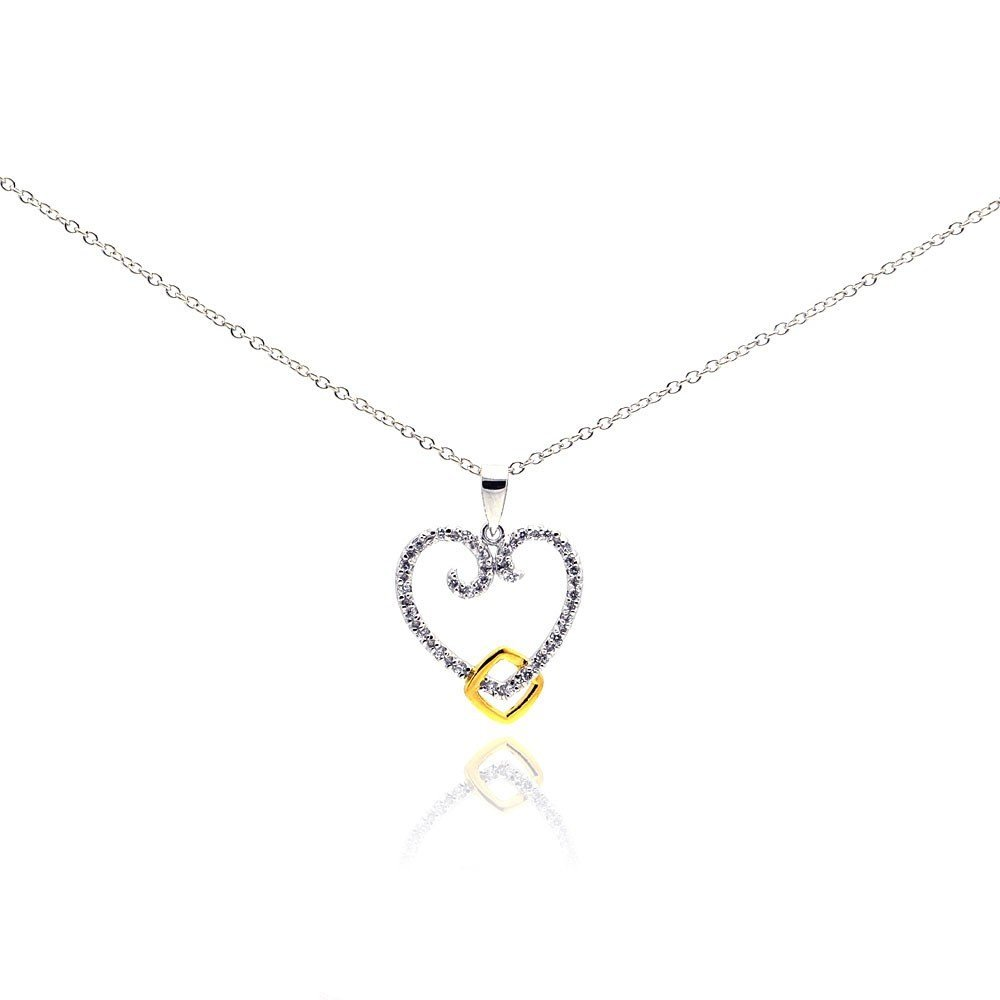 Silver Necklace .925 Ladies Sterling Jewelry bgp00184