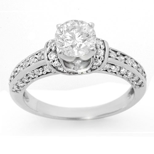 Natural 1.60 ctw Diamond Ring 14K White Gold