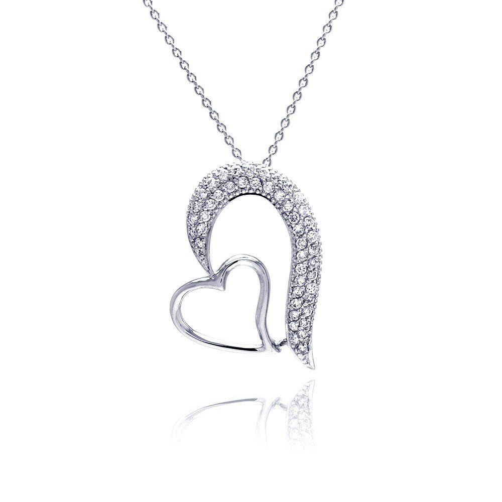 Silver Necklace .925 Ladies Sterling Jewelry stp00256