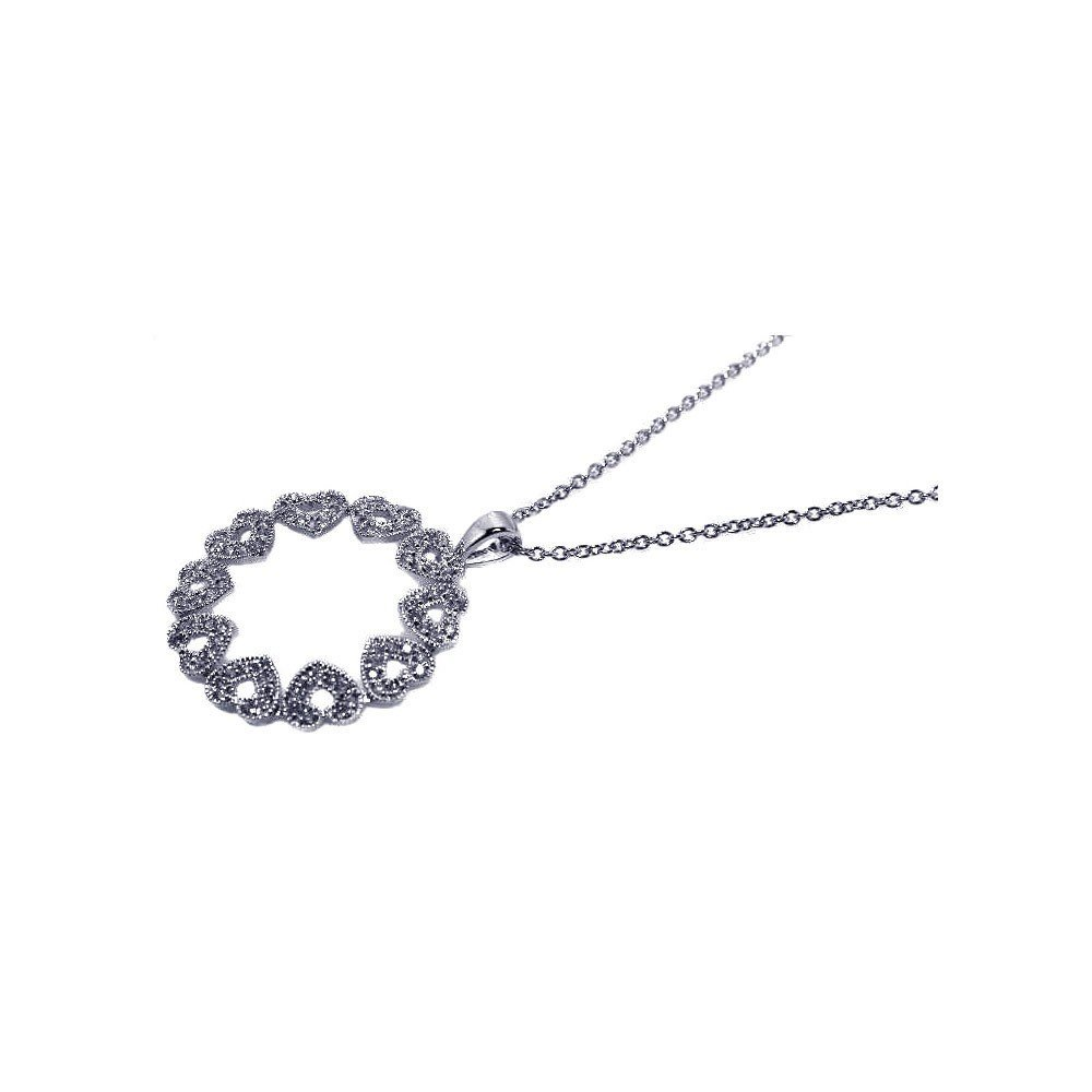 Silver Necklace .925 Ladies Sterling Jewelry stp00452