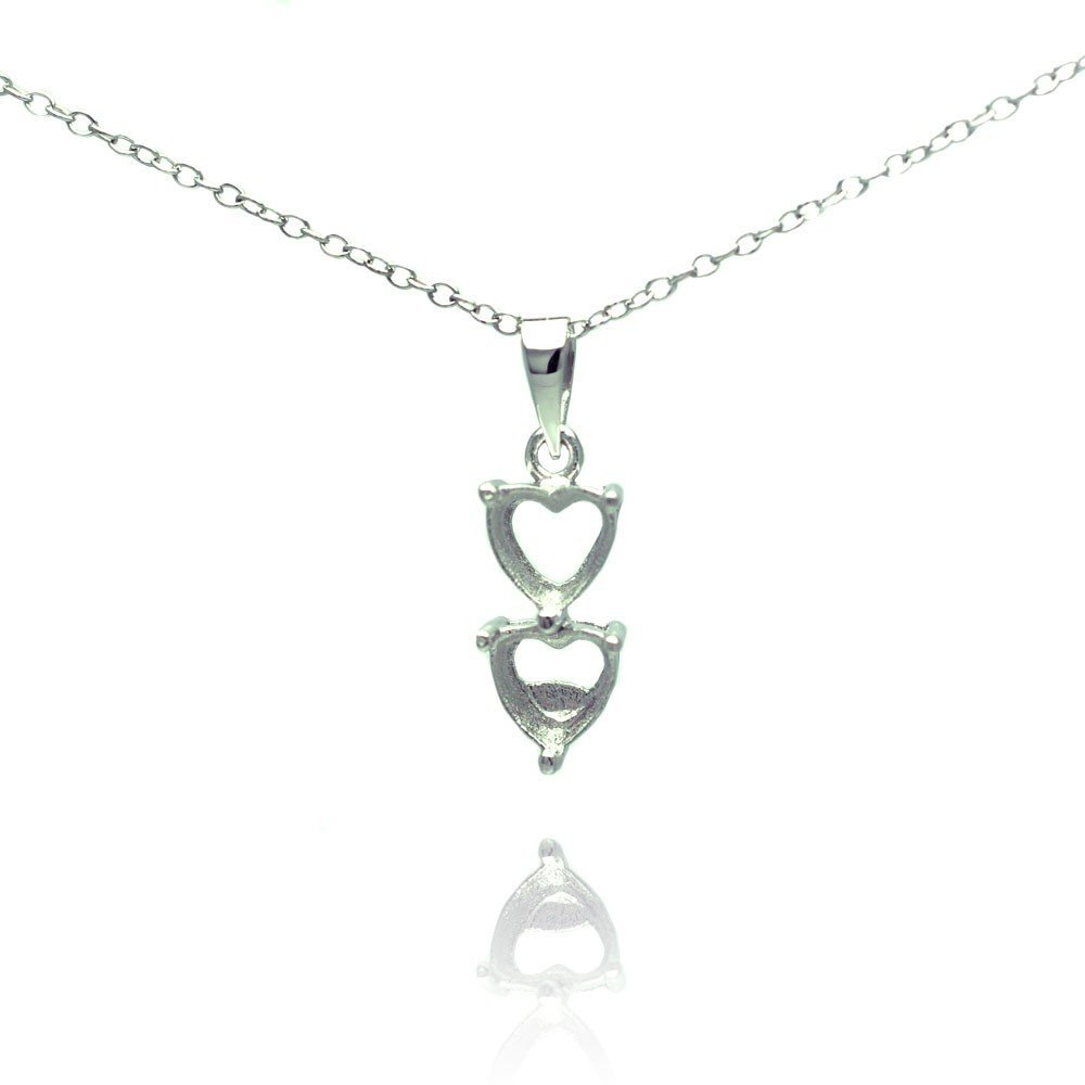 Silver Necklace .925 Ladies Sterling Jewelry bgp00781