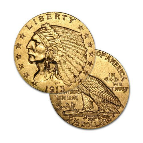 $2.5 Indian Gold - Quarter Eagles - 1908 to 1929 -