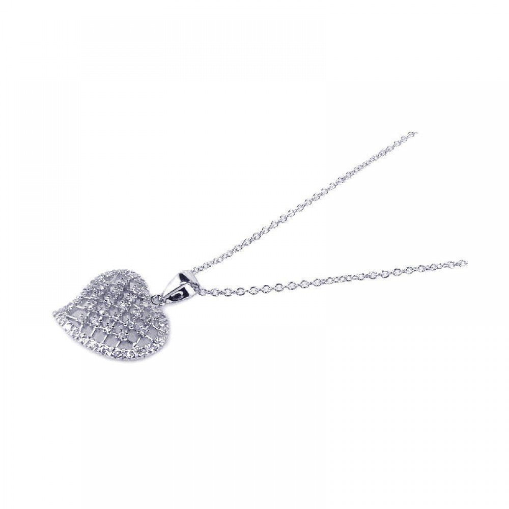 Silver Necklace .925 Ladies Sterling Jewelry bgp00130