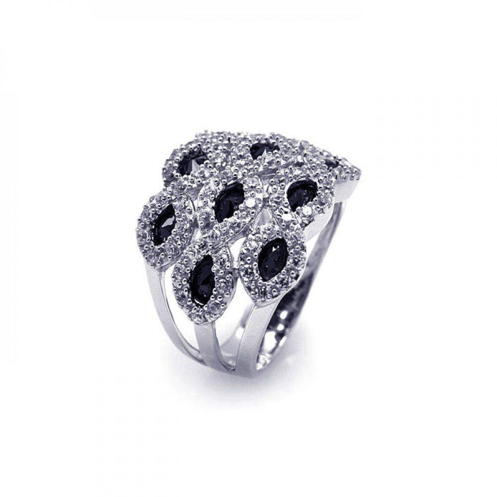 Silver Rings .925 Ladies Sterling Jewelry aar0068