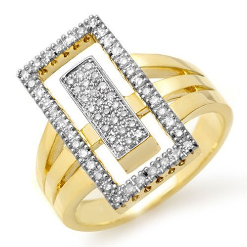 Natural 0.45 ctw Diamond Ring 10K Yellow Gold