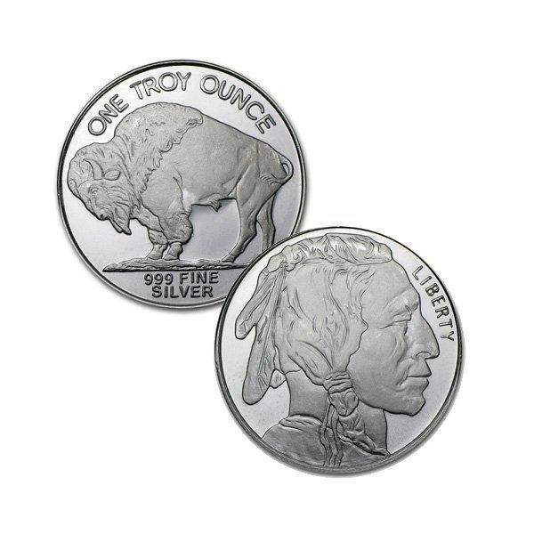 BRILLIANT UNCIRCULATED 1oz Fine Silver Buffalo - Random