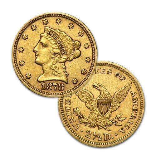 $2.5 Liberty Gold - Quarter Eagles - 1840 to 1907 -