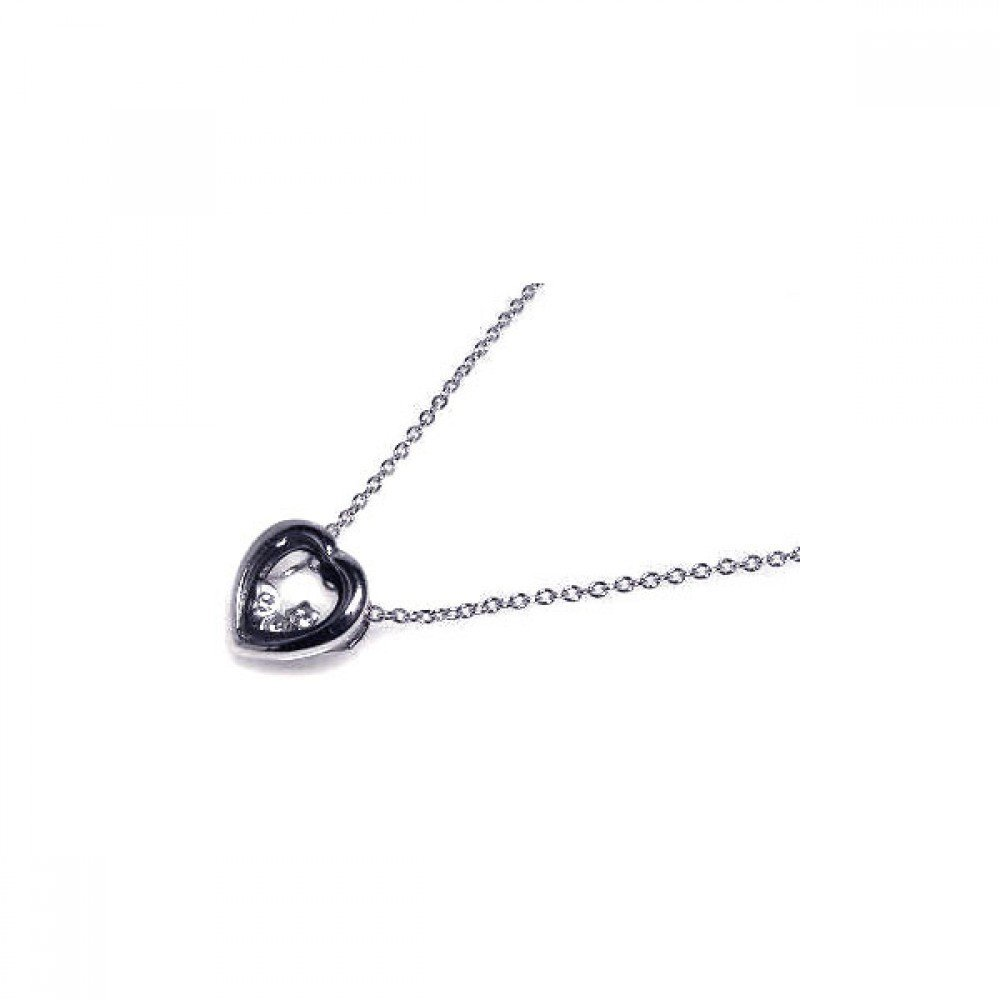 Silver Necklace .925 Ladies Sterling Jewelry stp00059