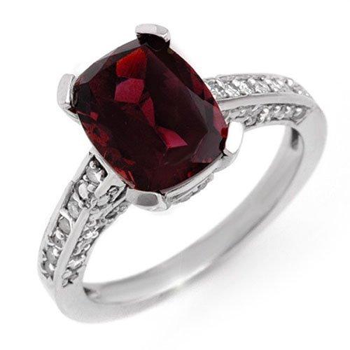 Genuine 3.5ctw Pink Tourmaline & Diamond Ring 10K Gold