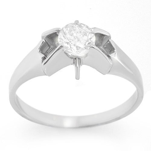 Natural 0.52 ctw Diamond Ring 14K White Gold