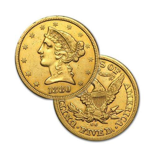 $5 Liberty Gold - Half Eagle - 1839 to 1908 - Random