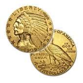 $5 Indian Gold - Half Eagle - 1908 to 1929 - Random