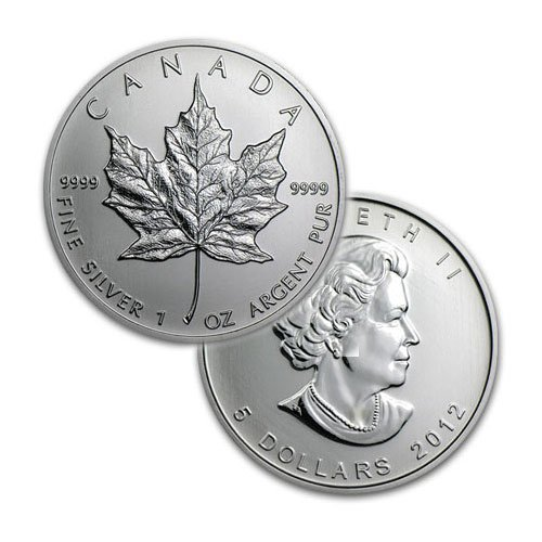 BRILLIANT UNCIRCULATED 1oz Sillver Canadian Maple Leaf