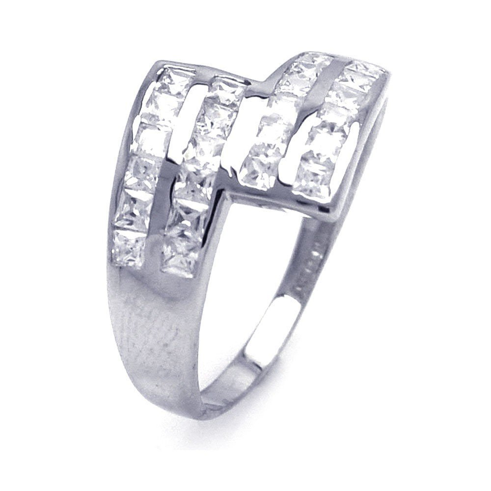 Silver Rings CZ .925 Ladies Sterling Jewelry aar0045