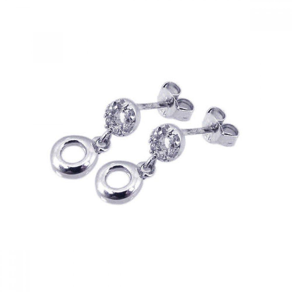 Silver CZ Stud Earrings .925 Sterling Jewelry ste00487