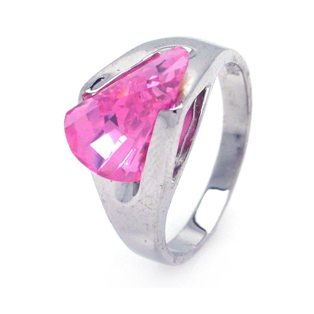 Silver Rings CZ .925 Ladies Sterling Jewelry aar0001pnk