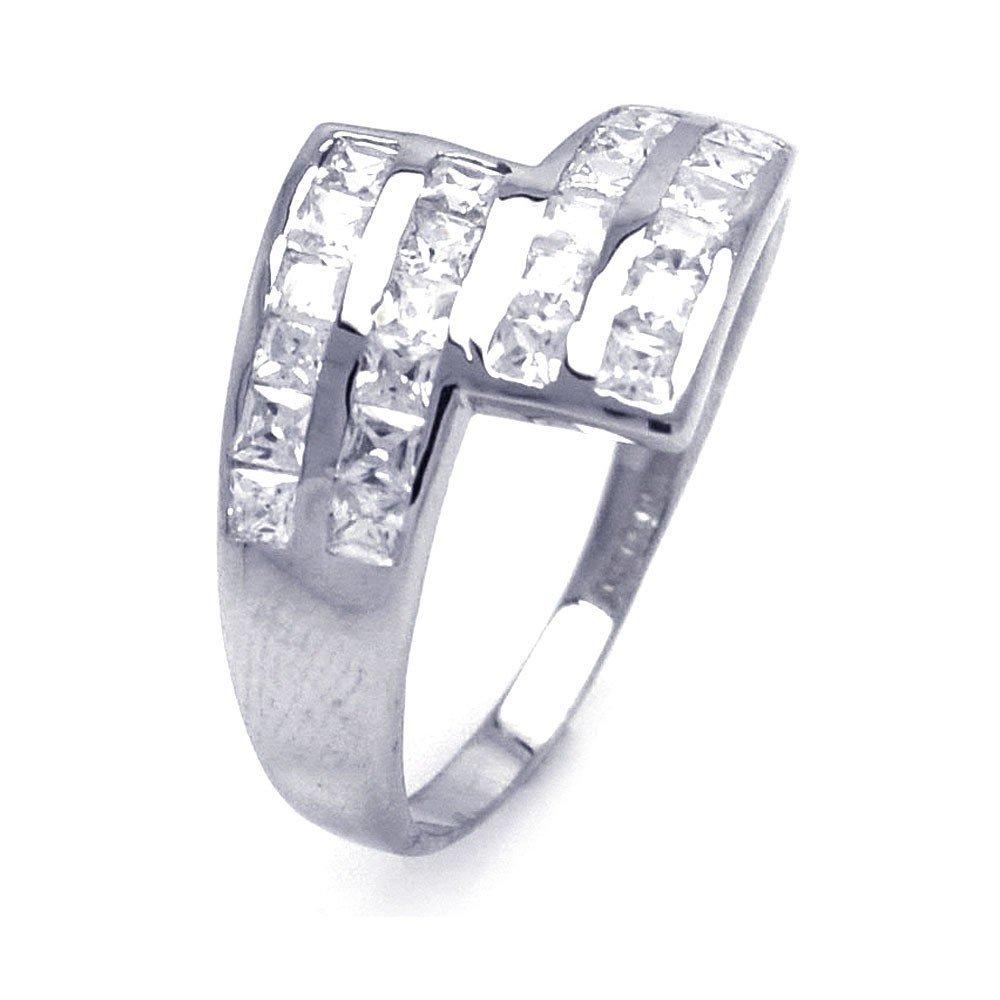 Silver Rings CZ .925 Ladies Sterling Jewelry aar0045