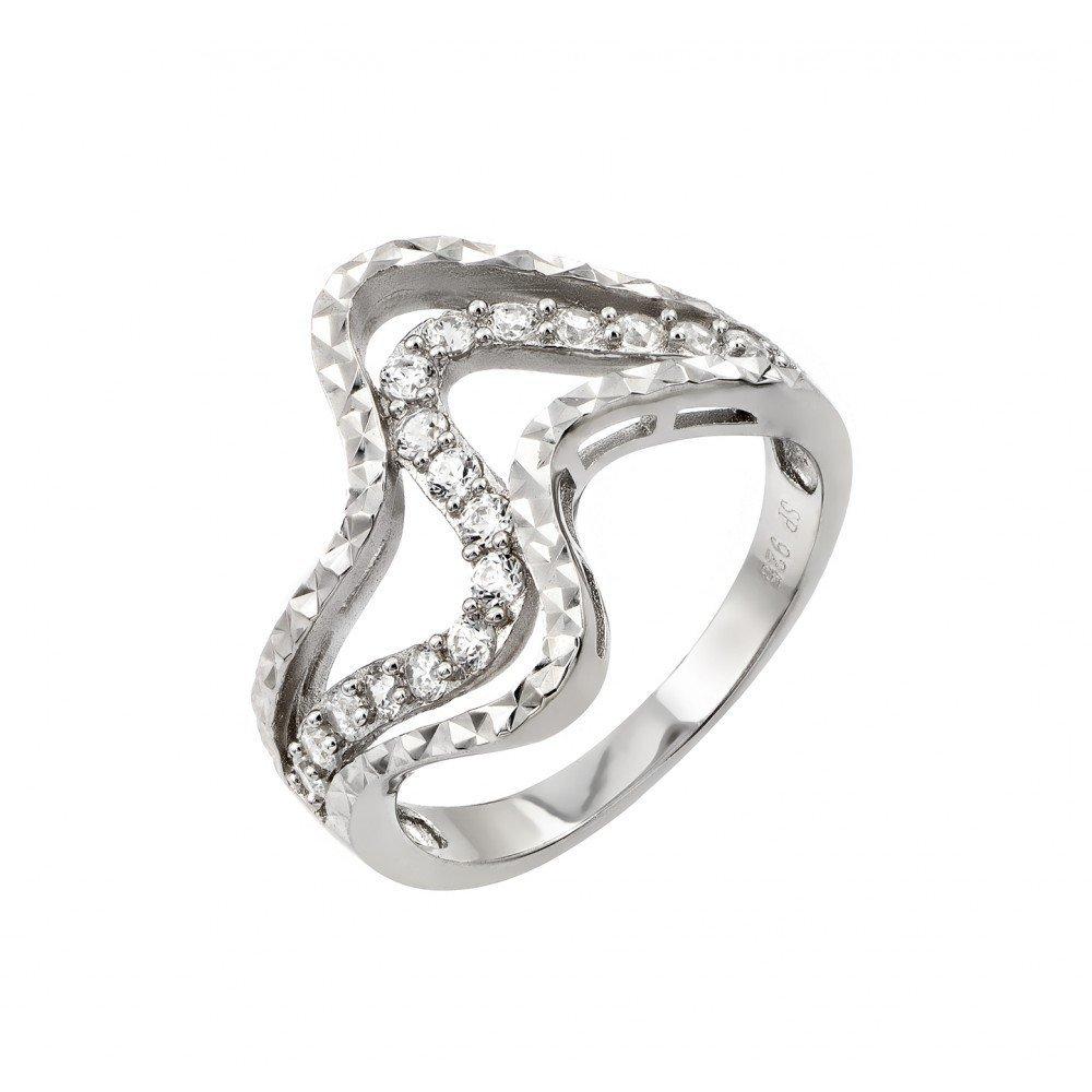 Silver Rings CZ .925 Ladies Sterling Jewelry str00965