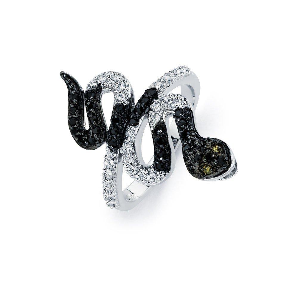 Silver Rings CZ .925 Ladies Sterling Jewelry bgr00522