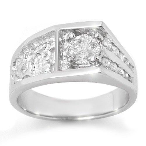 Natural 1.03 ctw Diamond Ring 14K White Gold