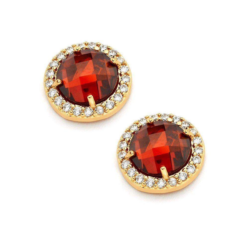 Silver Stud Earrings .925 Sterling Jewelry bge00360r