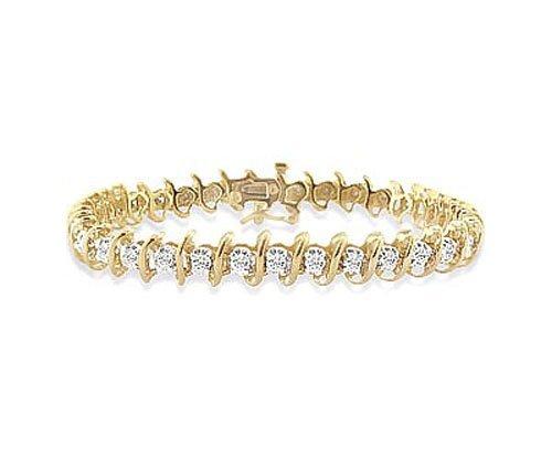 Natural 1.0 ctw Diamond Bracelet 10K Yellow Gold