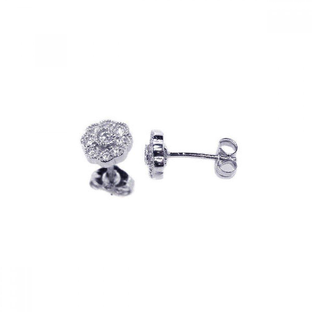 Silver Stud Earrings .925 Sterling Jewelry ace00022