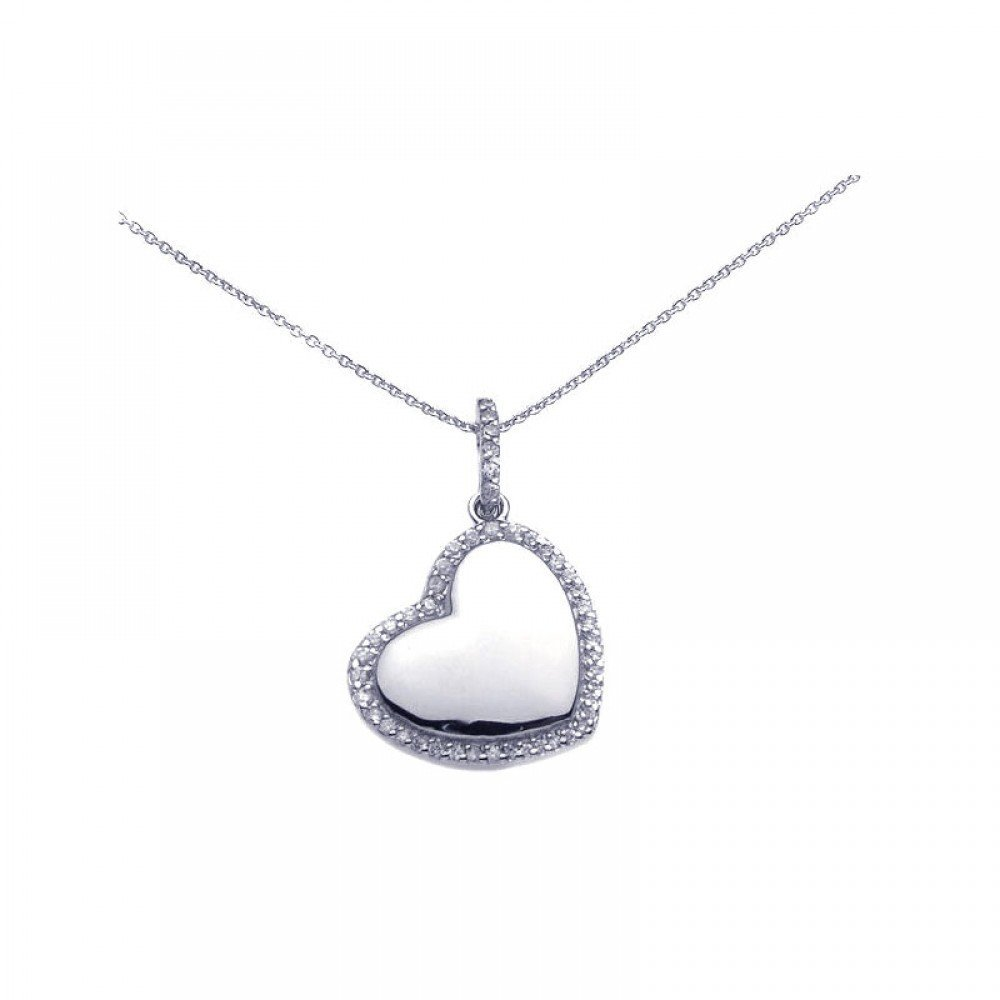 Silver Necklace .925 Ladies Sterling Jewelry stp00730