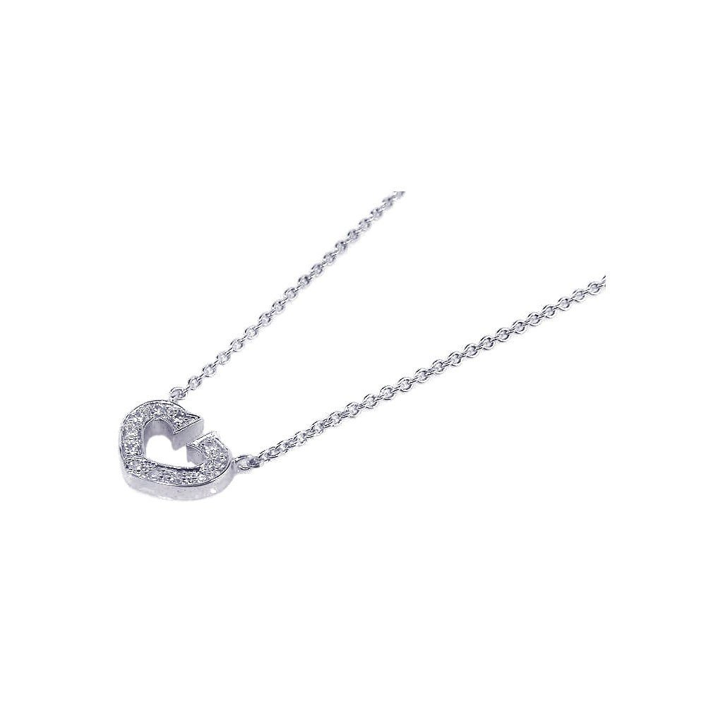 Silver Necklace .925 Ladies Sterling Jewelry stp00156