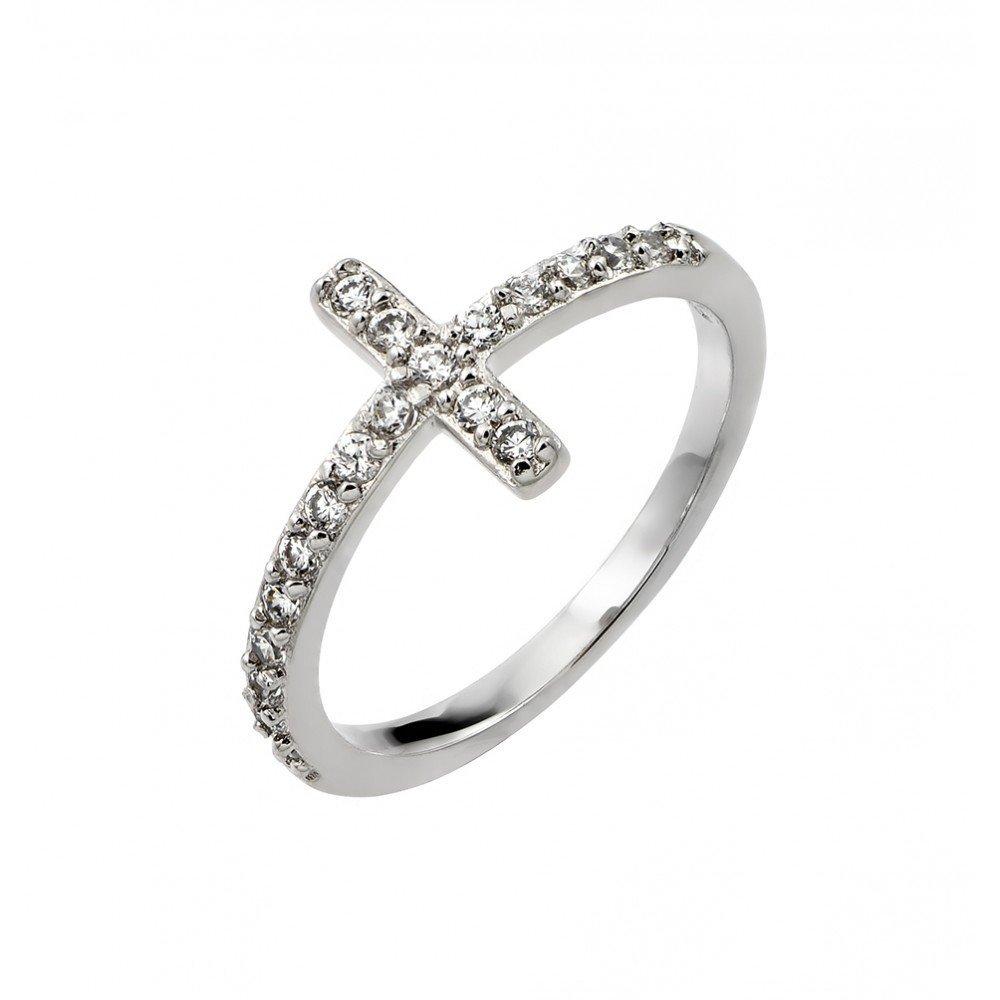 Silver Rings .925 Ladies Sterling Jewelry bgr00783rhd